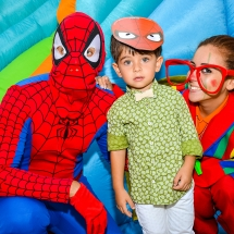 3 anni con Spiderman e clown by Walter Marone